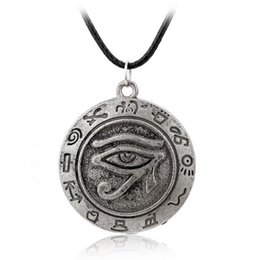Wholesale Ancient Heart - Ancient Egypt Style The Eye Of Horus Vintage Punk Rope Leather Necklace High Quality Women And Men Pendant Necklace