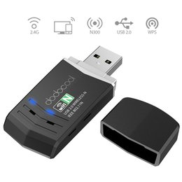 Wholesale Windows Vista Desktop - Wholesale- dodocool N300 Wireless-N Wireless Network USB 2.0 Adapter Wi-Fi Dongle 2.4 GHz 300 Mbps Support Windows XP Vista 7 8 8.1 10 Mac