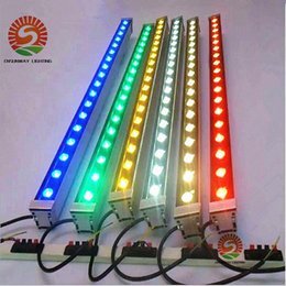 Wholesale Wholesale Lamps For Bar - Outdoor lighting led flood light 12W 18W LED wall washer lamp staining light bar light AC85-265V RGB for many colors