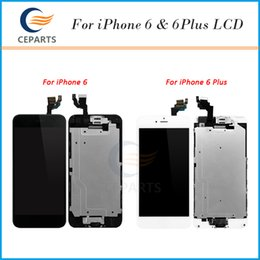 Wholesale Iphone Full Set - Full Set for Apple iPhone 6 for iphone 6 Plus LCD Display Touch Screen Digitizer Assembly+Front Camera+Home Button with DHL free shipping