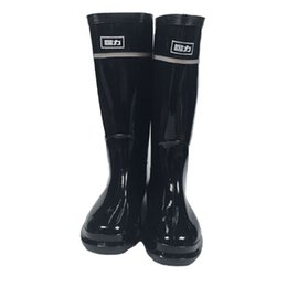Wholesale WOMEN S Rainboots Tall Height Rubber Waterproof Wellies Rain boots Water Shoes with dust bag Fedex free