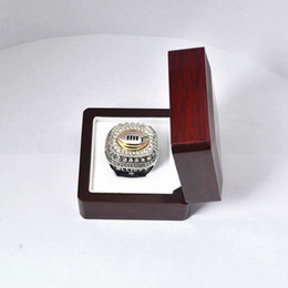 Wholesale Ring Display Boxes Cases - Championship Ring Display Gift Box Case - Great Sports Big Heavy Ring Memorabilia Gift Boxes - 6.5*6.5*4.5cm
