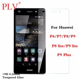 Wholesale Huawei Ascend P6 Protective - 9H 0.26mm Premium Tempered Glass For Huawei Ascend P6 P7 P8 P9 Screen Protector Protective Film P8 P9 lite Plus Glass