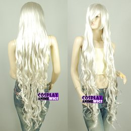 Wholesale Extra Long Curly Cosplay Wig - Wholesale free shipping >>Seamlessly Contours 120cm Silvery Grey Extra Long Curly Cosplay Wigs 3A_P50