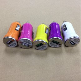 Wholesale Cigarette Lighter Mini Usb - USB Car Charger Adapter Colorful Bullet Chargers Adapter Cigarette Lighter For Apple Iphone7 Iphone 6s Plus mini Samsung Galaxy Note 7 S7