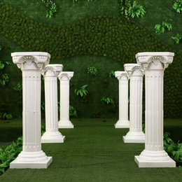 Wholesale Hotels Shop - White Plastic Roman Columns Road Cited For Wedding Favors Party Decorations Hotels Shopping Malls Opened Welcome Road Lead