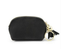 Wholesale small cute women coin purse - Small wallet girl cute student change purse bag card pack mini small fresh coin bag