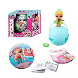 Wholesale New Figures - 2017 New LOL SURPRISE DOLL Unpacking Dolls Dress Up Toys baby Tear open change egg dolls can spray toys