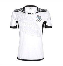 Wholesale NUEVO Fiji RUGBY jersey Top Tailandia calidad RWC NRL Fiji blanco hogar camisas Envío gratis