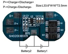 Wholesale Li Ion Bms - Wholesale- 10PCS LOT Protection Circuit Module 2S 7A BMS PCM PCB Battery Protection Board For 7.4V Li-ion lipo Battery Cell Pack