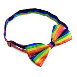 Wholesale Tuxedo Mens Boys - Wholesale- HOT SALE!Mens Tuxedo Stripe Woven Bow Tie Bowtie Necktie