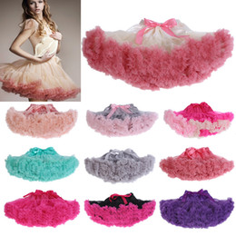 Wholesale adults princess skirts - Womens Solid Color Adult Tutu Skirt Fluffy Party Princess Ballet Mini Short Pettiskirt Dancewear Petticoat