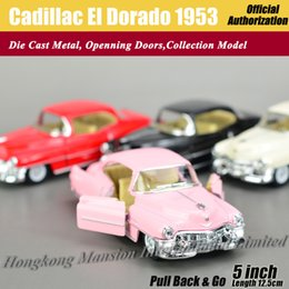 Wholesale Kids Classic Toy Cars - 1:36 Scale Diecast Classic Car Model ForCadillac El Dorado 1953 Collection Model Pull Back Toys Car - Pink Red White Black