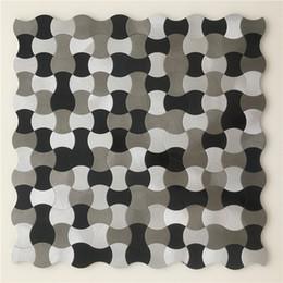 Wholesale Aluminum Wall Tiles - NEW STYLE!!Metal mosaic tiles, high quality tiles for wall,Aluminum kitchen backsplash tiles, Self-adhesive mosaics,LSALS03
