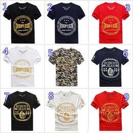 Wholesale Blue Shirt Jeans - New Robin T-shirt Men Robin Jeans Shirts Man Designer T Shirt Robins Bottoming Robins Shirt T Shirt Tops Plus Size M- 3XL 2017
