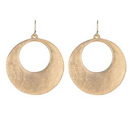Wholesale Unique Drops - Unique Design Color Gold Silver Rose Gold Big Charms Earrings Round Hollow Out Dangle Drop Earrings Women Best Gifts