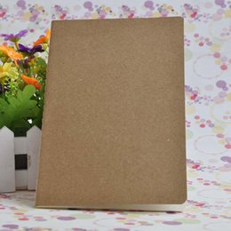 Wholesale Spiral Notebook A5 - A5 Blank Inside Page Notepads Cowhide Paper Notebook Solid Color Copybook Classical Notepad Simple Notebooks Factory Direct Sales 1 4jc R