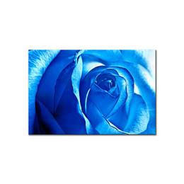 Wholesale Rose Wall Art - Morden Picture Wall Picture Romantic Fleur Blue Rose Painting Spray Prints Painting On Canvas Art Pictures Decoration Peinture Home Decor