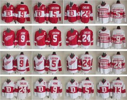 Wholesale Vintage Wings - Throwback 13 Pavel Datsyuk Jersey Men Detroit Red Wings 9 Gordie Howe 5 Nicklas Lidstrom 24 Chris Chelios Vintage Classic 75th Red White