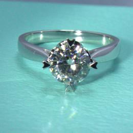 Wholesale Moissanite Diamond Rings - New Arrival 18k Gold Classic Heart Moissanite Synthetic Diamond Women Ring For Lovers Wedding Ring 1CT