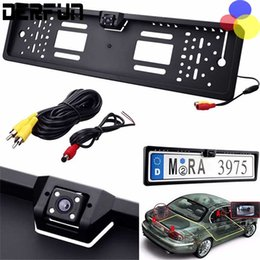 Wholesale Embedded Camera - New Car Rear View Cameras Waterproof Europe License Plate Frame with Rear View Camera Embedded Mini Rear Camera