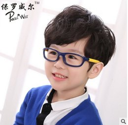 Wholesale Cool Nerd Glasses - Cool Kids Glasses Frames Boy Girl Rectangular Kid's Eyeglasses Nerd TR90 Flexible Children with Lens S884