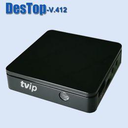 TVIP V412 Linux TV BOX O Android TV BOX IPTV Amlogic S805 Quad Core Ruso Original MiNi IPTV Media Player bulit-in wifi desde fabricantes