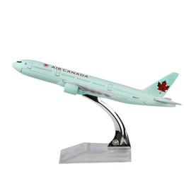 Wholesale Planes Metal - Air Canada plane model Boeing 777 16cm alloy metal model souvenir model aircraft collection Toy Aircraft Birthday Gifts Christmas gift