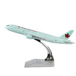 Souvenir regalo in metallo online-Air Canada modello aereo Boeing 777 modello in lega di metallo 16cm modello souvenir collezione di aeromobili Toy Aircraft Regali di compleanno regalo di Natale