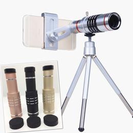Wholesale Optical Telescope Mini - Universal 18X Zoom Optical Telescope Mobile Phone Lens With Mini Tripod For all smart phones High Quality