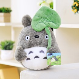 Wholesale Lotus Doll - lovely plush toy, my neighbor totoro plush toy cute soft doll totoro with lotus leaf kids toys Cat 25cm