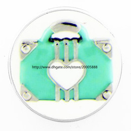 Wholesale Lucite Handbags - fashion Light blue love handbag 18 mm glass print ginger snap button jewelry luxurious alloy bottom fit 18 mm snaps bracelets best gifts