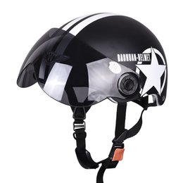 Wholesale Hot Goggles Motorcycle Helmet - Hot Motor Scooter Motorcycle motocross capacete Open Face Half Matted Black Stars Helmet & Goggles Free Shipping