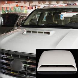 Wholesale Car Bonnet Scoops - NEW Car Decorative Air Flow Intake Hood Scoop Vent Bonnet Cover White Universal