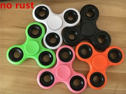 Wholesale Plush Toy Pack - NEW no rust Fidget Spinner Plush Toy Plastic Handspinner Fidget Fingertips Spiral Triangle Hand Spinner EDC fidget Rollver Retail Pack