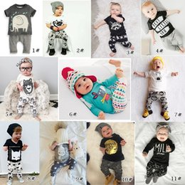 Wholesale Babies Gift Set - New INS Baby Boys Girls Letter Sets Top T-shirt+Pants Kids Toddler Infant Casual Long Sleeve Suits Spring Children Outfits Clothes Gift K037