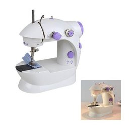 Wholesale manual sewing - New Useful Multifunctional Electric Mini Sewing Machine Desktop With Led