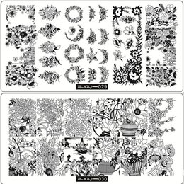 Wholesale Nail Designs Templates - Exclusive Nail Art Stamping Plates Self Design Rectangle 12*6cm Manicure Polish Stamping Stencil Diy Nails Beauty Template Plate