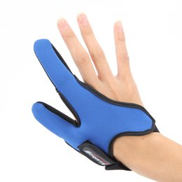 Wholesale Wholesale Fishing Gloves - 2017 Summer Anti-Slip Breathable Double Finger Gloves For Sea Fishing Outdoor Hunting Camping Two Finger Fish Glove For Men Blue Red Black