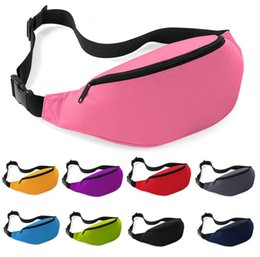 Wholesale Cotton Pouch Bag Wholesale - Free shipping 12pcs High Quanlity Fashion Pure Unisex Bag Travel Handy Hiking Sport Fanny Pack Waist Belt Zip Pouch