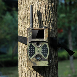 Wholesale 12mp Trail Camera Gsm - HC-300M Trail Hunting Camera Photo Trap MMS SMS GSM GPRS 12MP HD Wild Camouflage Vedio Game Cameras with 36 Pcs IR LEDs