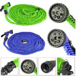 Wholesale Expandable Flexible Water Garden Pipe - 25FT 50FT 100FT Expandable Flexible Garden Water Hose Garden Hose For Car Water Pipe Plastic Hoses To Watering With Spray CCA6701 50pcs