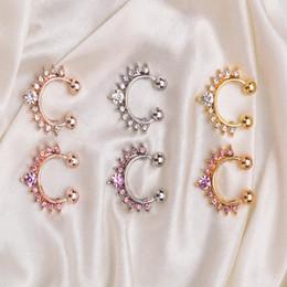 Yeni Moda 2017 Fantezi Titanyum Kristal Sahte Burun Halkası Septum Burun Hoop Yüzük Piercing Vücut Takı drop shipping Toptan cheap wholesale fancy fashion jewelry nereden toptan süslü moda takı tedarikçiler