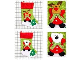 Wholesale Embellished Pendants - Christmas Bag Ornaments Sequins tree pendant Embellished Xmas Festival Christmas Socks Party Gift bag Candy Bag Christmas Stockings