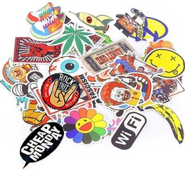 Wholesale wholesale wall words - 500Pcs Glossy Stickers Car Skateboard Motorcycle Bicycle Luggage Laptop Wall Decals Pack