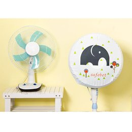 Wholesale Electric Cartoon Fans - Useful Fashion Cartoon Brief Oxford Cloth Electric Fan Circle Fan Dust Cover Protection Case Baby Safety Fan Cover Storage Bag