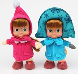 Wholesale Dance Talk - New Arrival Masha And The Bear Russian Language Doll Musical Dancing Talk Dolls Plush Toys Birthday Christmas Gifts For Children