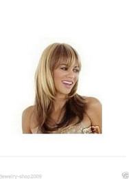 Wholesale American Girl Blonde - Freeshipping havana african american woman >>New wig Cosplay Blonde & dark Auburn Medium Women's  Girl Wig +cap