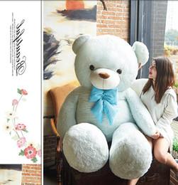Wholesale Teddy Bear Lovers Big - 200cm Huge Soft Cartoon Plush Bear Toy 79'' Big Stuffed Lovely Teddy Bear Doll Pillow Lover Present