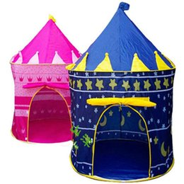 Wholesale Blue Castle Play Tent - Prince and Princess tent family tent Palace Castle Children Playing Indoor Outdoor Toy Tent colors mixed